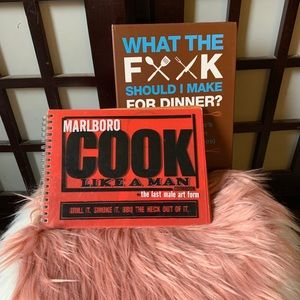 TWO COOKING BOOKS & FREE WINE FOR DUMMIES